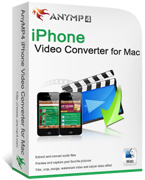 AnyMP4 iPhone Video Converter for Mac boxshot