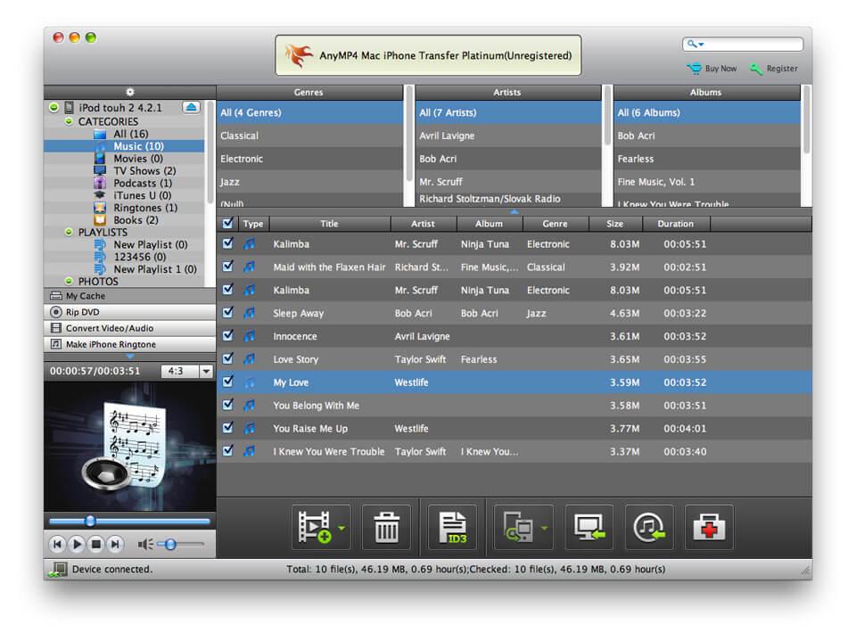 AnyMP4 Mac iPhone Transfer Platinum 7.0.28 full