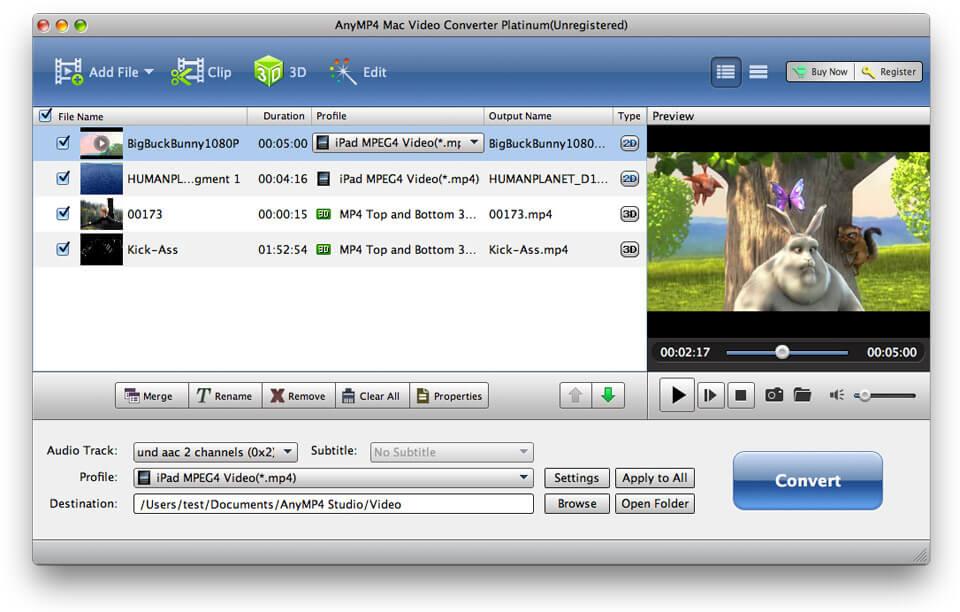 AnyMP4 Mac Video Converter Platinum 6.1.68 full