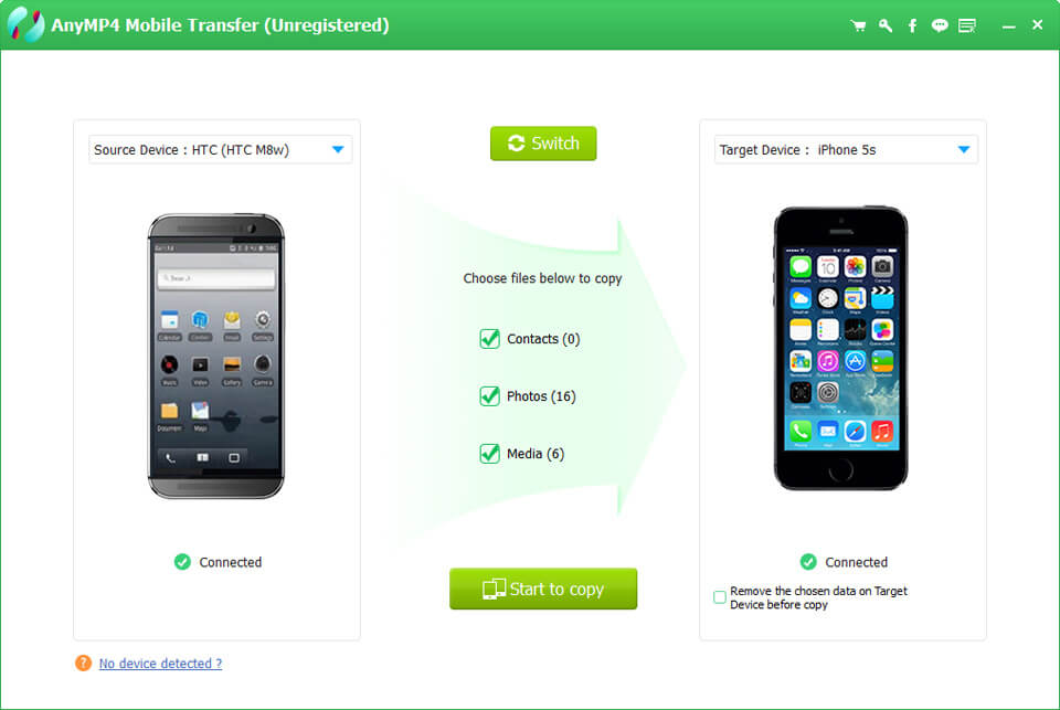 Click to view AnyMP4 Mobile Transfer 1.1.98 screenshot