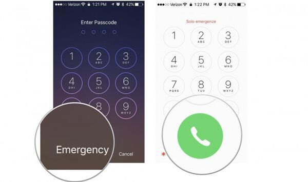 Hätäpuhelu iPhone