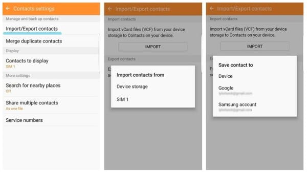 Transfer android contacts from sim card
