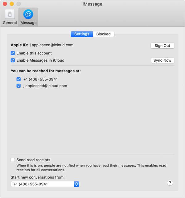 Ota viestikuvaaminen käyttöön iCloud mac -sovelluksessa