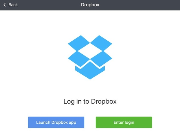 Sign into dropbox