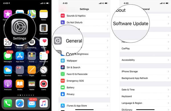 Päivitä iOS
