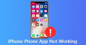 Korjaa iPhone Phone -sovellus ei toimi