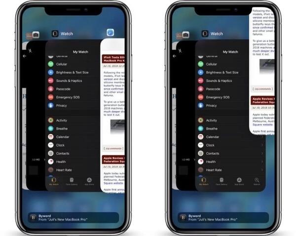 Sulje sovellukset iPhonessa