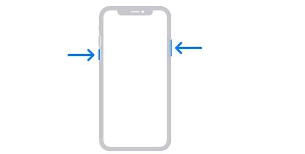 Käynnistä iPhone X uudelleen