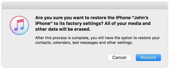 Palauta iPhone tehdasasetuksiin