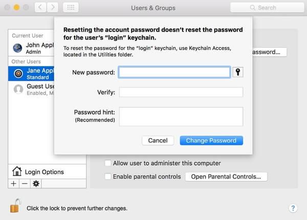 Vaihda iCloud-salasana Macissa