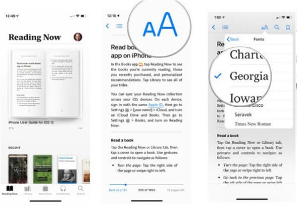 Change Books Font on iPhone