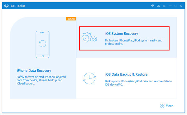 Valitse iOS System Recovery