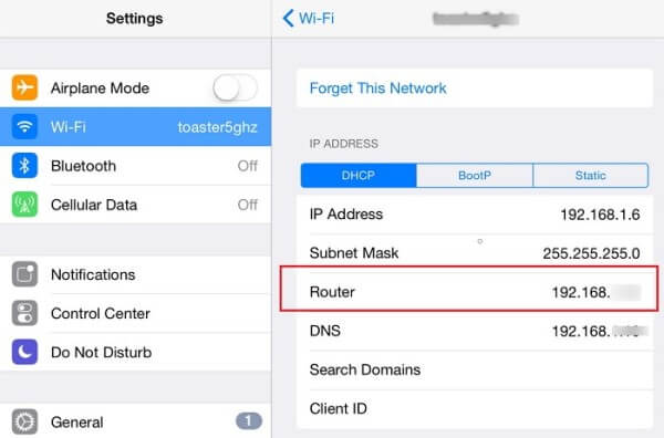 Router Address Find WIFI Password