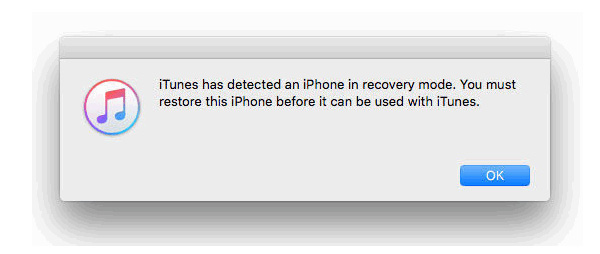 Palauta iPhone iTunes