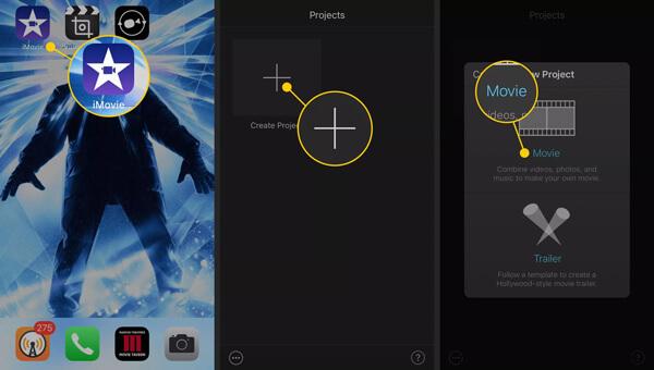Lataa iPhone Video iMovieen