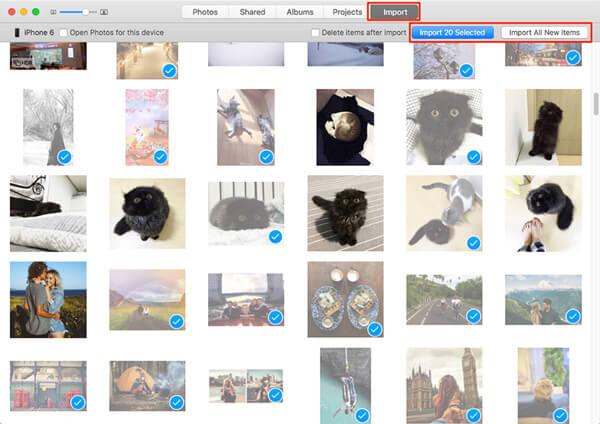 Siirrä valokuvia valokuvasovelluksella