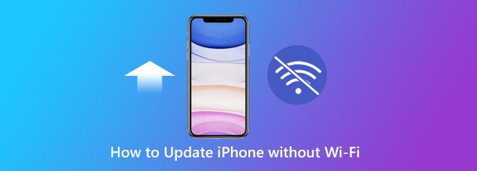 Kuinka päivittää iPhone ilman wifiä