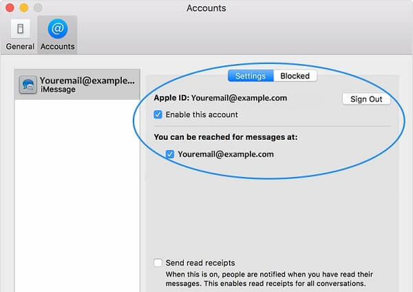 Enable iMessages on Mac
