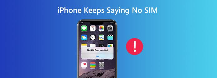 iPhone pitää sanomatta, ettei SIM-korttia ole
