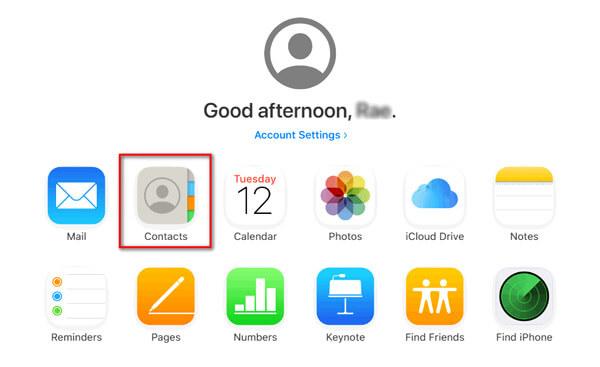 iCloud Yhteydet