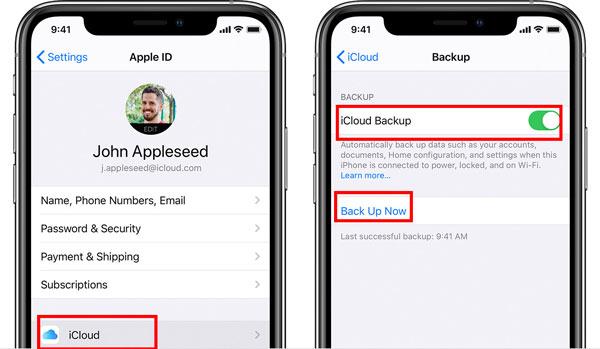 Varmuuskopioi iPhone iCloudiin