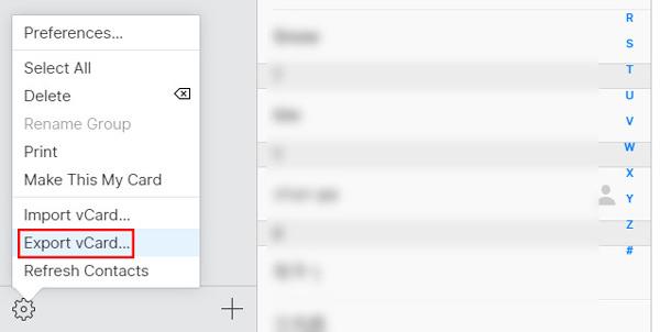 Vie iPhone-yhteystiedot iCloud