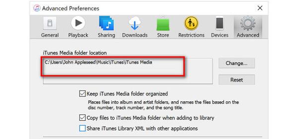 Etsi iTunes Media -kansio