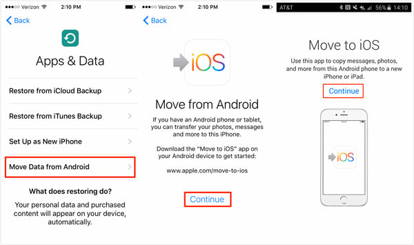 Move to iOS iPhone