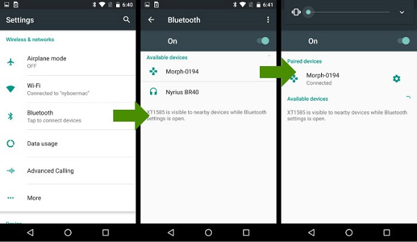 Yhdistä Bluetooth