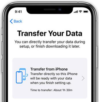 Siirrä tietoja iPhonen siirto