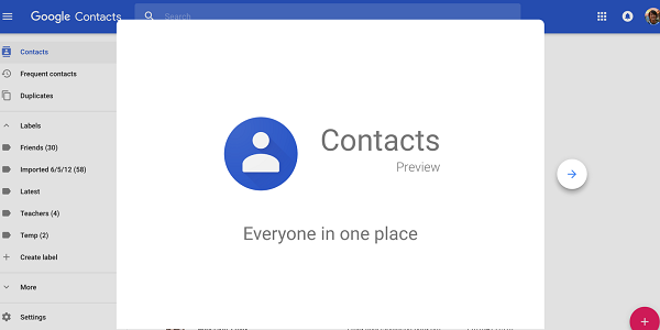 Google-yhteyshenkilö