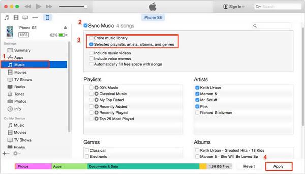 Synkronoi valokuvat iTunesin kanssa