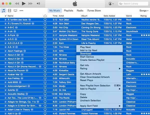 Kopioi musiikki iTunes