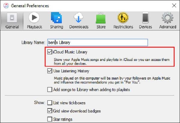 Asetukset iTunes
