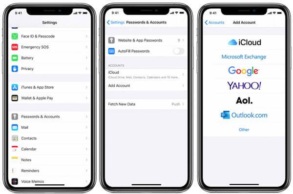 Siirrä iPhone-muistiinpanot Androidille Gmailissa