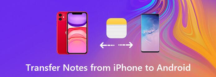 Siirrä muistiinpanoja iPhonen ja Androidin välillä