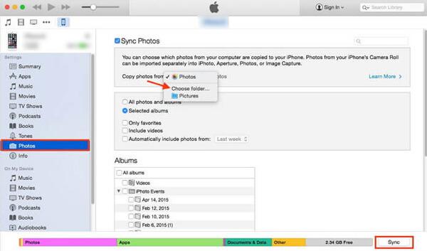 Siirrä valokuvia androidista iPhoneen iTunesin avulla