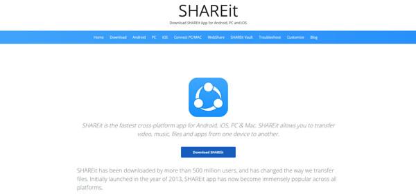 Siirrä valokuvia androidista iPhoneen Shareit-sovelluksen avulla