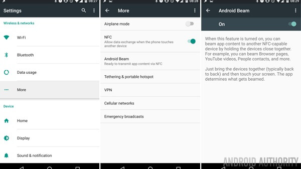Android nfc android-palkki