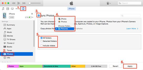 Synkronoi valokuvat iPhonesta iPhoneen