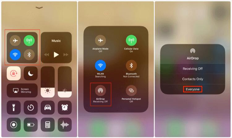 Siirrä valokuvia iPhonesta iPhone Airdropiin