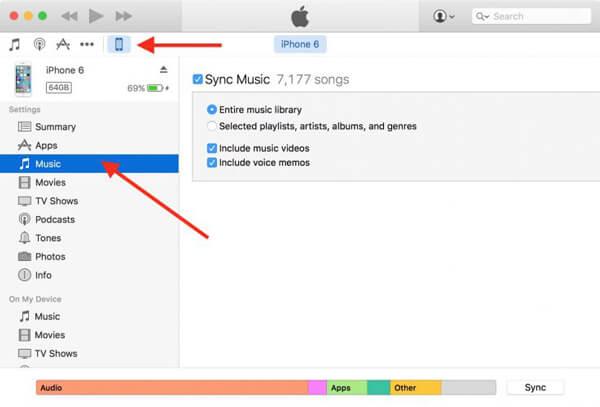 Siirrä äänimuistiot tietokoneen iTunesiin