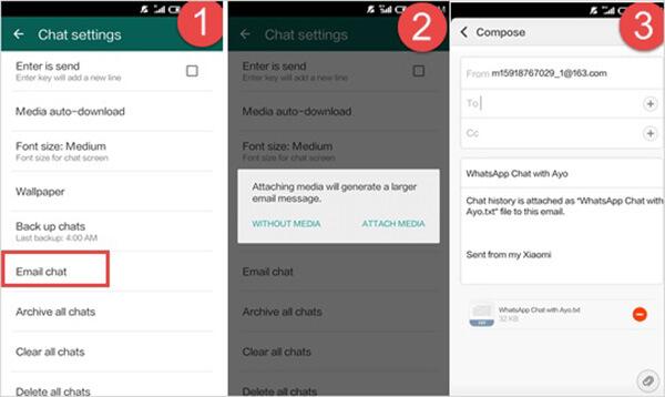 Sähköposti Whatsapp