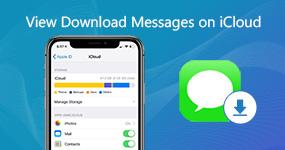 Tarkastele ladattavia viestejä iCloudissa