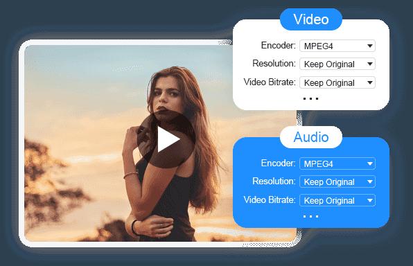 Säädä Video Audio -parametrit