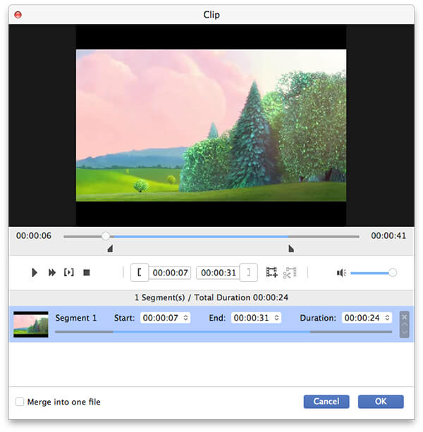 Ratkaise videon pituus