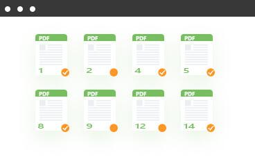 Muunna PDF tietyillä sivuilla