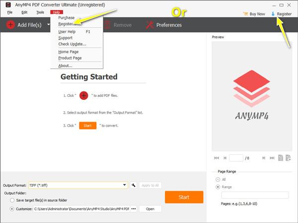 Rekisteröi PDF Converter Ultimate