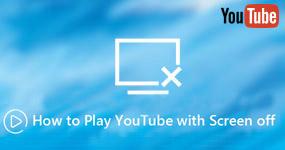 Pelaa YouTube-näyttöä pois päältä
