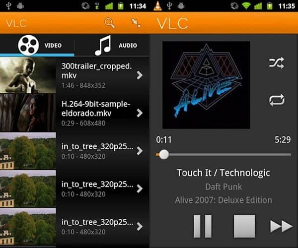 VLC Androidille